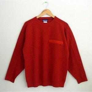 Vintage Patagonia Mens Guide Sweater Red 100% Wool